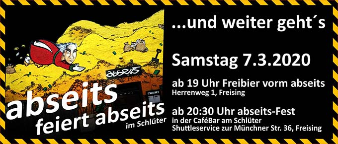 Abseits Party im Cafe Schlüter am 7.3.20